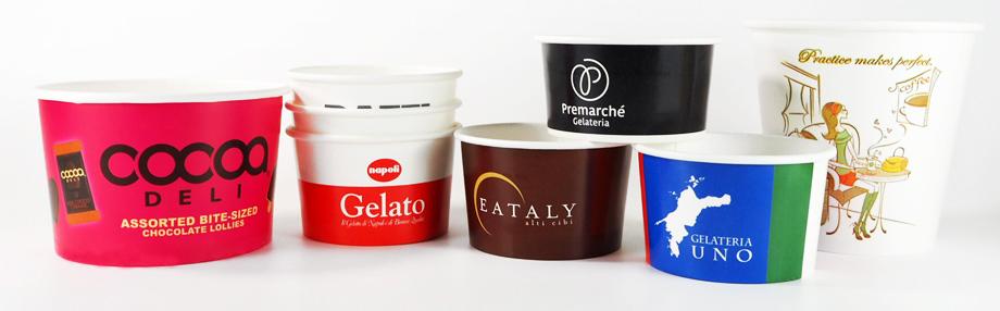 ジェラート紙コップ・アイスクリームカップ
